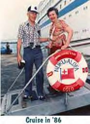 Herschel Pahl and wife Bonnie take a Cruise