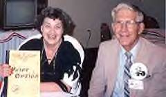 Butch O'Hare's sister Marilyn and Hersch Pahl at the 1990 Reunion