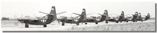 VC-7 planes ready to depart Port Lyautey October 14, 1952.