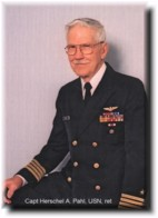 Herschel A. Pahl (Retired) in his Captain`s Uniform