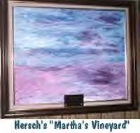 Hersch's painting 'Point Option' - the name was changed to 'Martha's Vineyard in memory of John-John Kennedy
